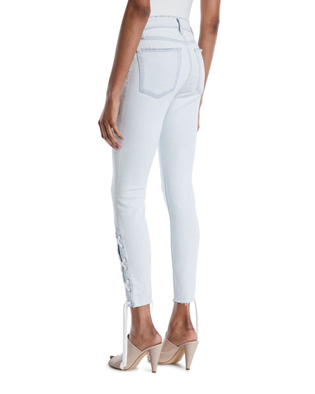 The Charlie Lace-Up Skinny Jeans