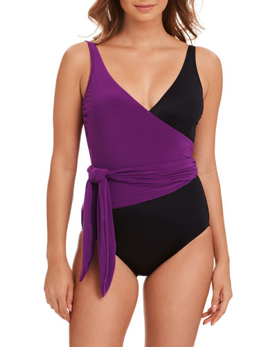 Misty Wrap One-Piece Swimsuit