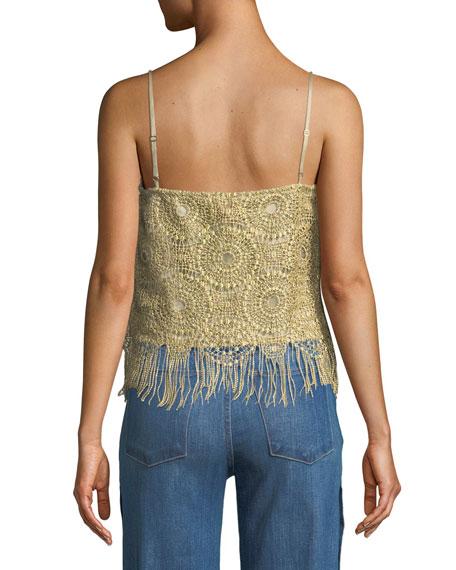 Malena Crochet Fringe Cami Top