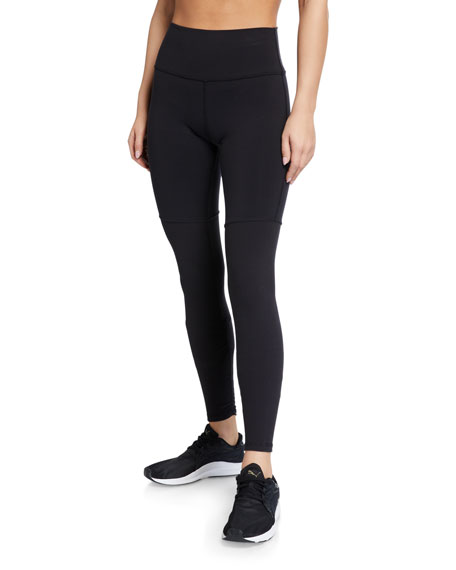 Alo Yoga Goddess Shirred High-Rise Performance Leggings