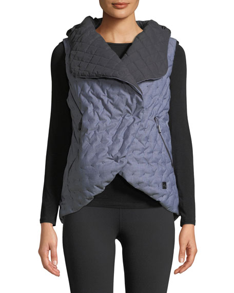 THE NORTH FACE Cryos Down-Fill Quilted Cocoon Vest in Indigo Denim