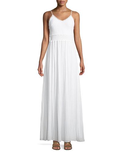 Stella Crochet-Top A-Line Long Dress