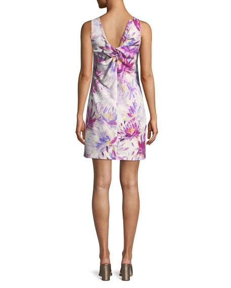 Clemente Water Lily Twist-Back Dress