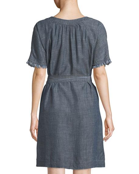 Redwood Frayed Chambray Dress