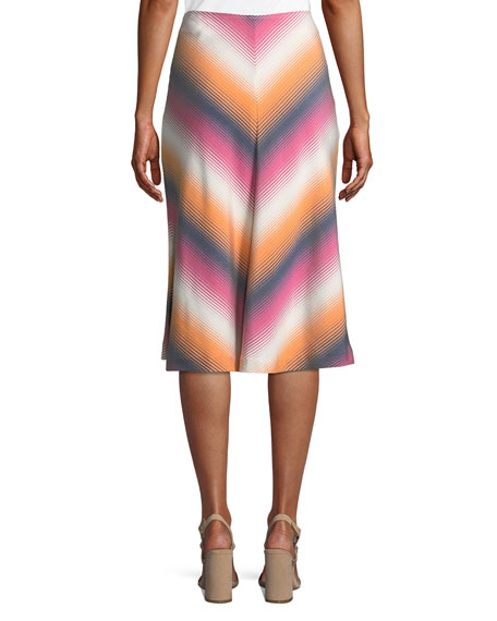 Atwater Village Serape Stripe Chevron Skirt