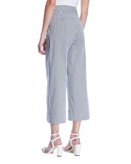 Sacramento Wide-Leg Striped Pants