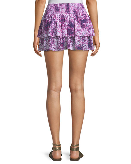 Sibyl Printed Mini Skirt