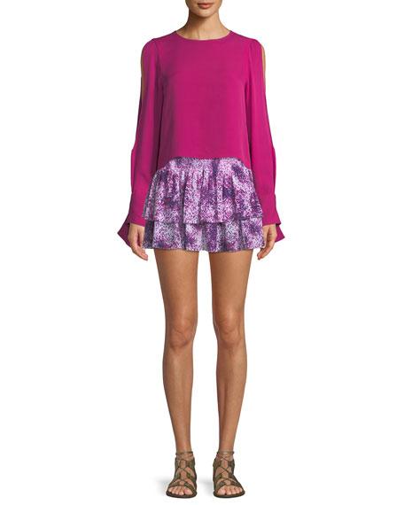 Sibyl Printed Mini Skirt