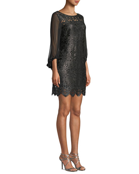Merida 3/4-Sleeve Lace Dress