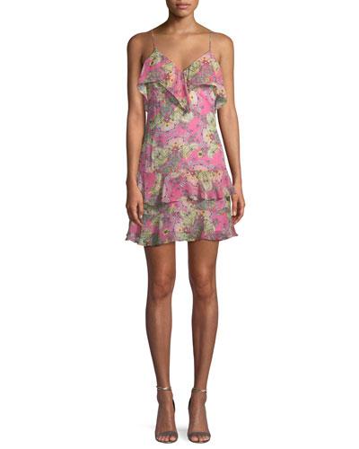 Day Dream Printed Ruffle Dress