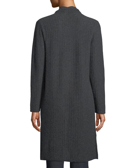 Cashmere Vertical Metallic Stripe Duster