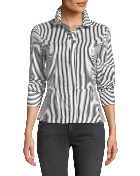 Bailey 44 Spell On You Long-Sleeve Striped Cotton