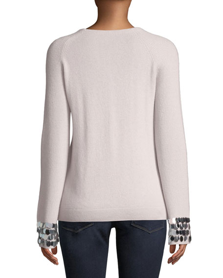 Cashmere Payet-Cuff Sweater