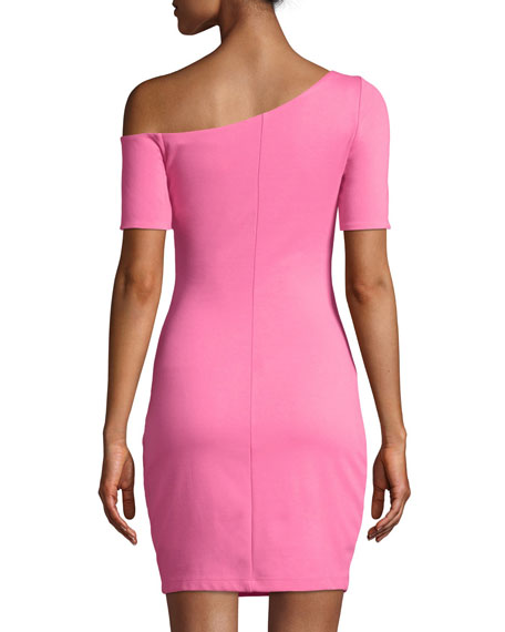 Don't Bring Me Down Short-Sleeve Body-con Mini Dress