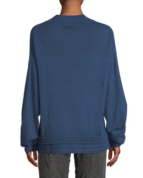 Hensley Rib-Trim Cotton Pullover Sweater