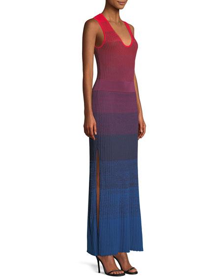 Winona Ribbed Degrade Ribbed Maxi Dress