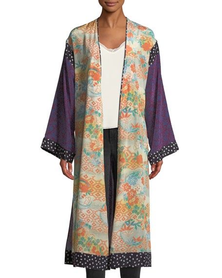 Shawna Floral Patchwork Kimono Robe