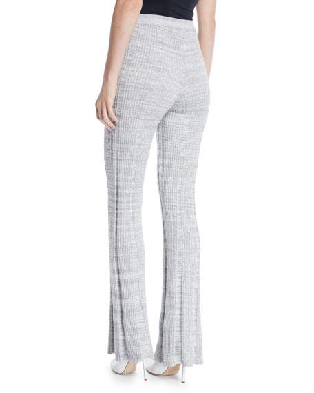 Joan Slim Flare Rib-Knit Pants