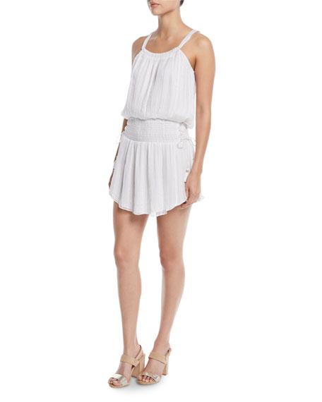 Lydia Smocked Tie-Side Mini Dress