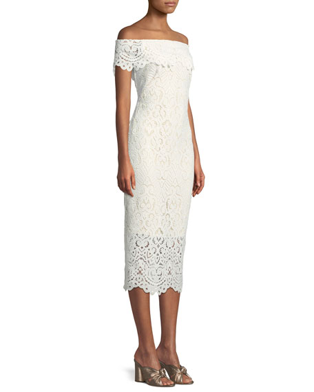 Madison Lace Off-the-Shoulder Dress