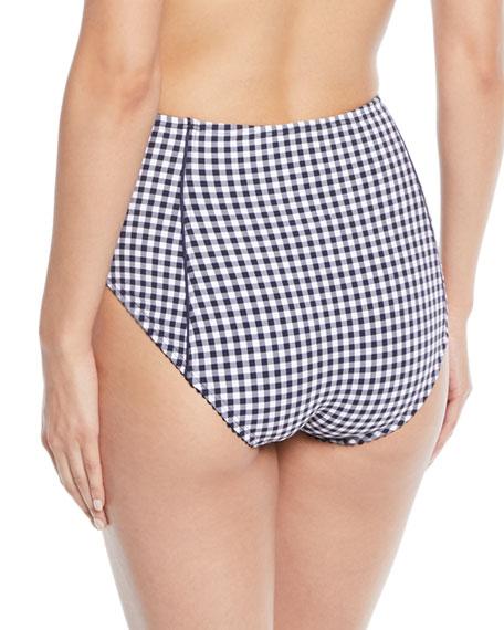 crosby high-waist check swim bottoms