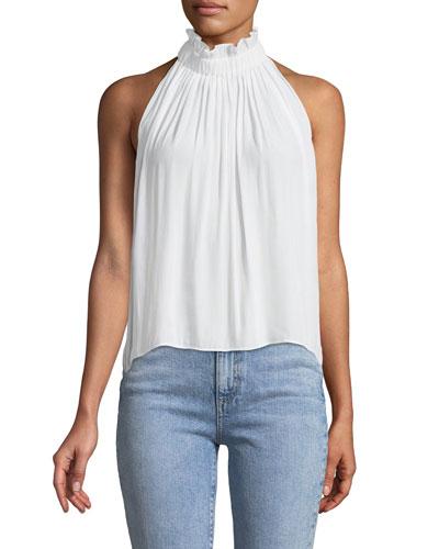 Selene High-Neck Sleeveless Top