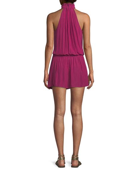 Selene High-Neck Mini Dress