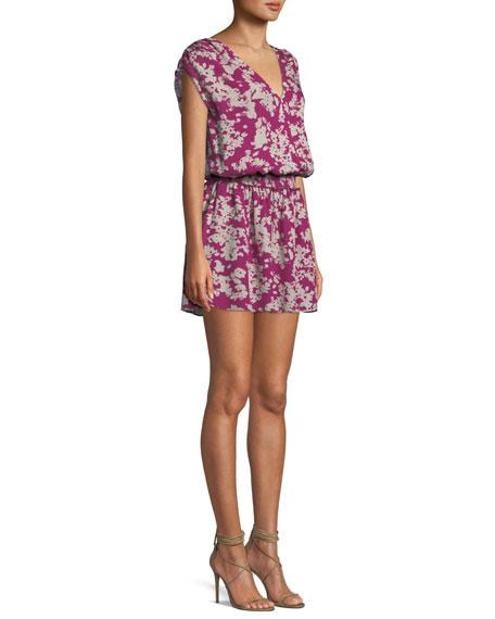 Perrie Printed Silk Mini Dress