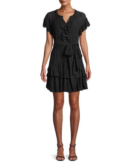 Dree Belted Eyelet Lace Short Dress