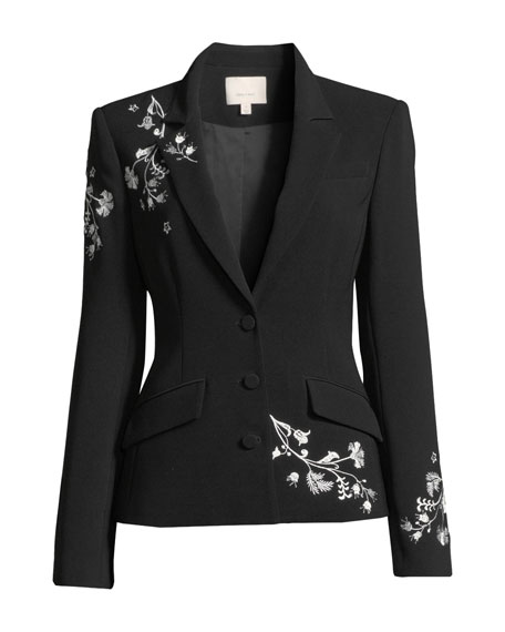 Gabrielle Floral Embroidered Blazer