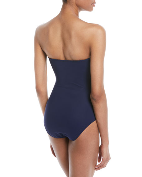 Tricolore Bandeau One-Piece Swimsuit
