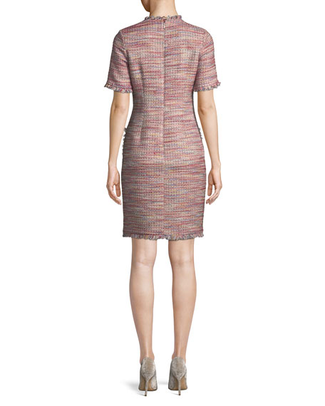 Tweed Dress w/ Beaded Pockets