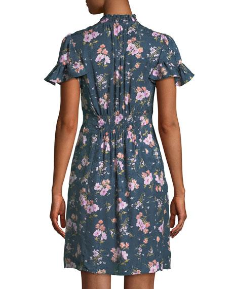 Emilia Floral-Print Silk Mini Dress