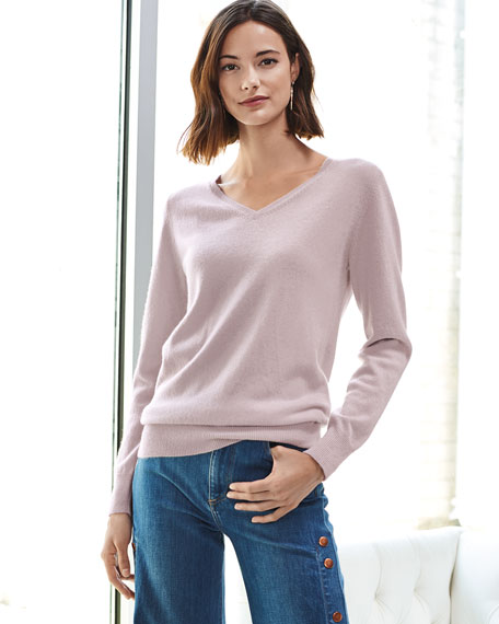 Cashmere Relaxed V-Neck Sweater