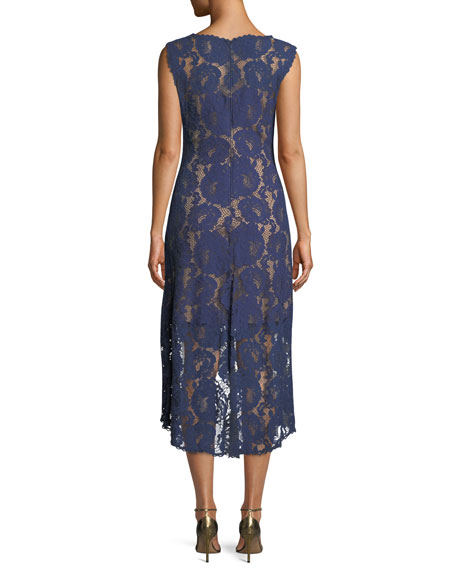 Gaviota High-Low Lace Cocktail Dress