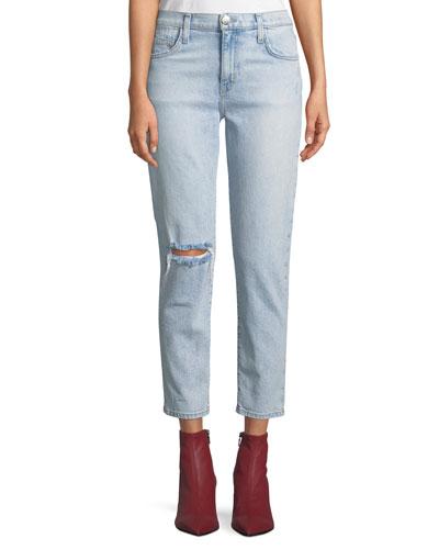 The Vintage Cropped Slim-Leg Jeans