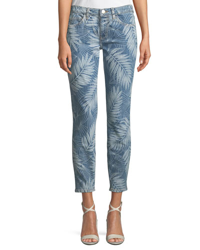 The Stiletto Palm-Print Skinny Jeans
