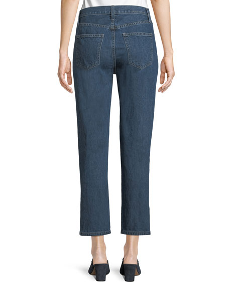 The Vintage Cropped Slim-Leg Jeans