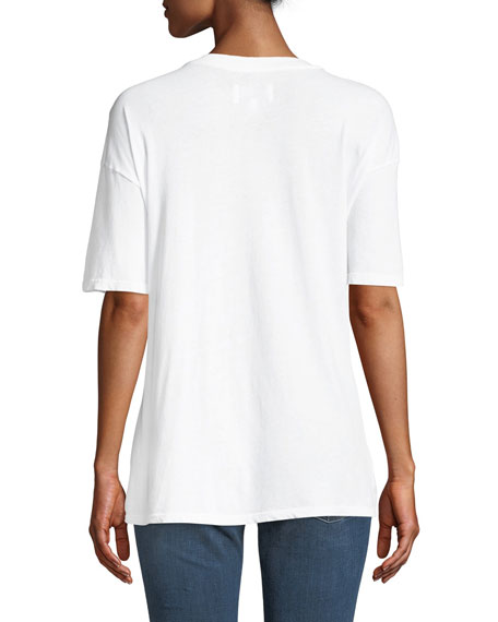 Casson Short-Sleeve Cotton Tee w/ Drawstring Hem