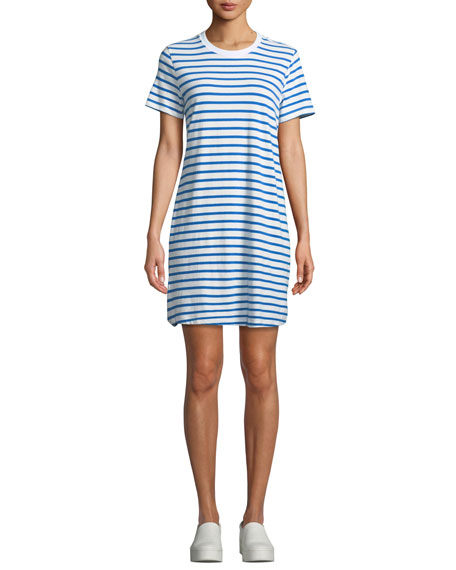 Beatnik Striped Crewneck Tee Dress