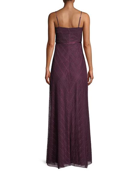 Eliza Lace Slip Gown w/ Cutout Front