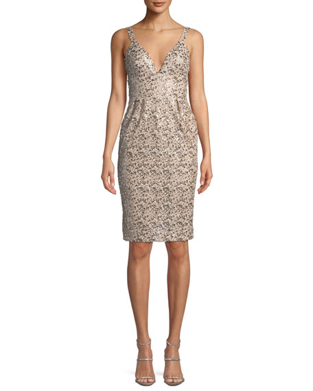Jill Jill Stuart Anuska Sleeveless Sequin Cocktail Dress