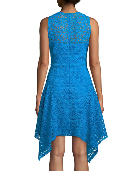 Novelty Guipure Lace Handkerchief-Hem Dress
