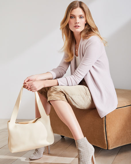 Cashmere Modern Open-Front Cardigan