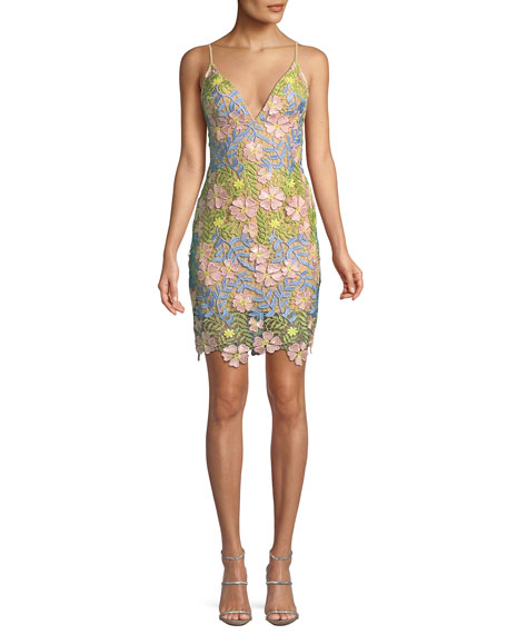 Jovani Floral Sleeveless Mini Dress
