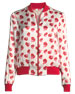 X Donald Robertson Lonnie Printed Silk Bomber Jacket
