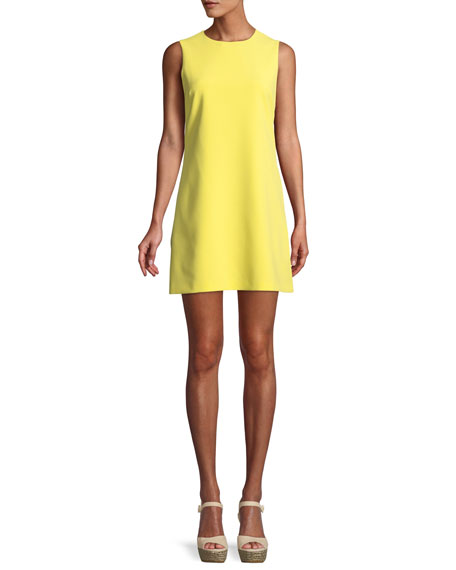 Coley Crewneck Sleeveless A-Line Mini Dress