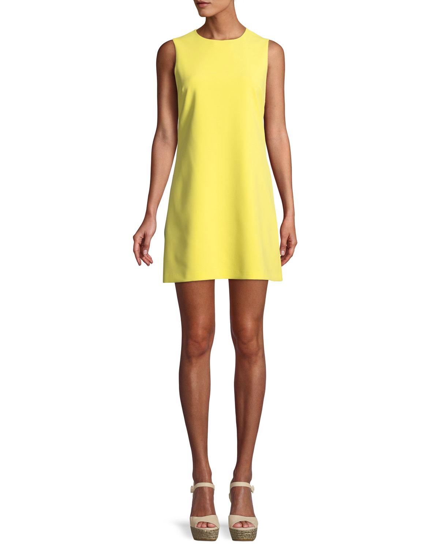 f2698c9d6d8586 Alice + Olivia Coley Crewneck Sleeveless A-Line Mini Dress