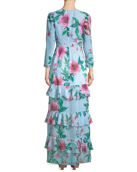 The Camari Long Floral Georgette Dress