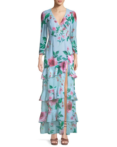 The Camari Long Floral Georgette Dress